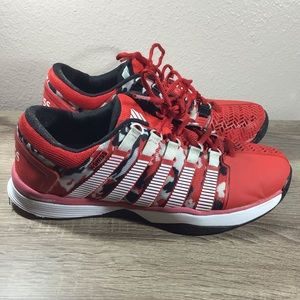 Kswiss hypercourt shoes red black shoes